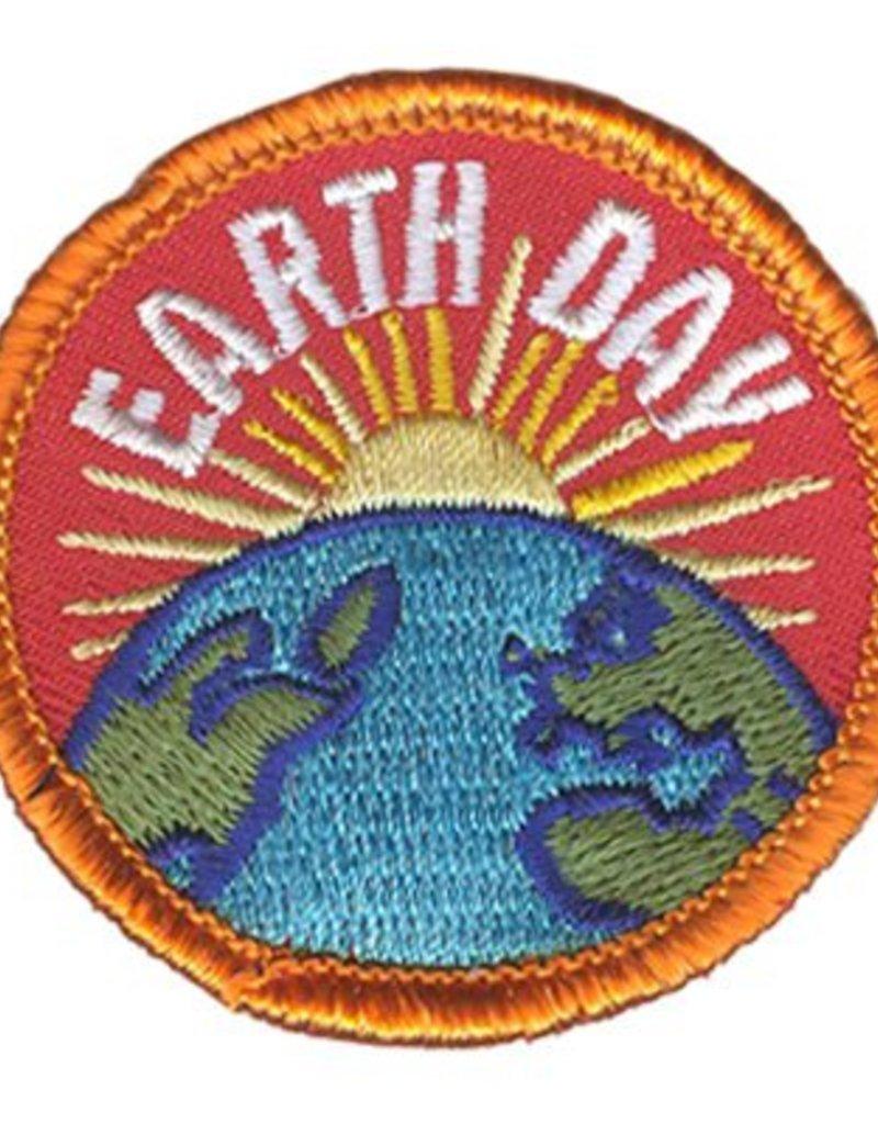 Advantage Emblem & Screen Prnt Earth Day Rising Sun Fun Patch