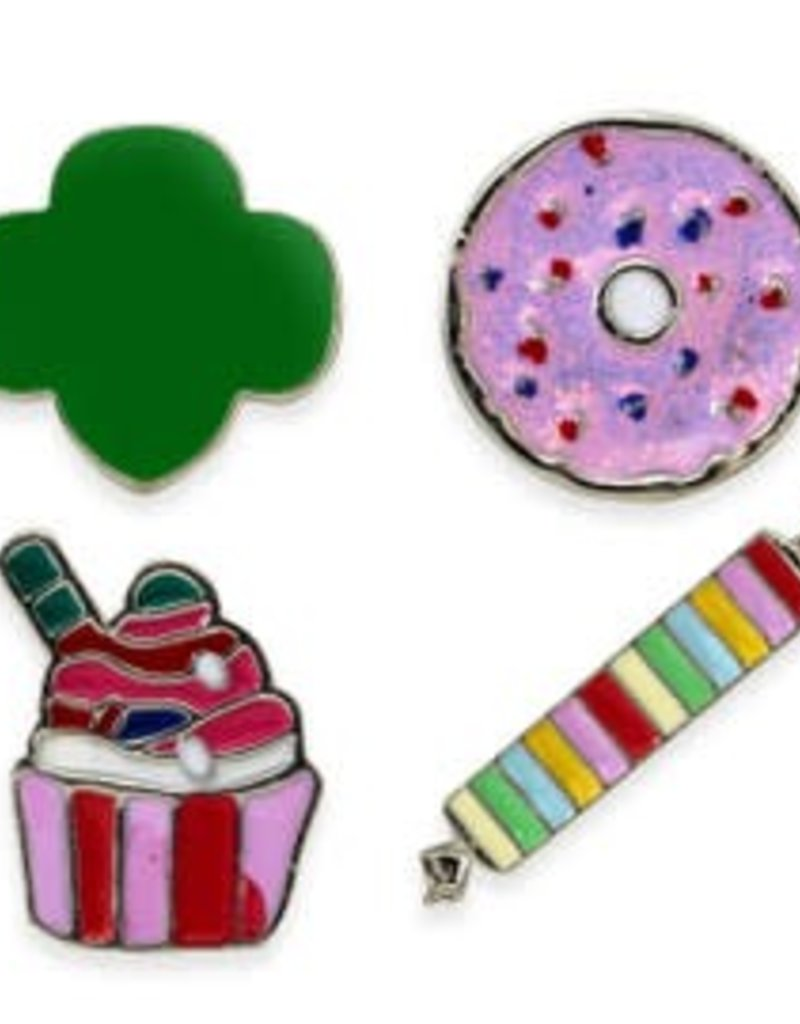 GIRL SCOUTS OF THE USA 4 Piece Mini Novelty Pin Set