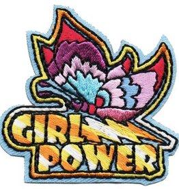 Advantage Emblem & Screen Prnt Girl Power Butterfly Fun Patch