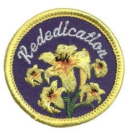 Advantage Emblem & Screen Prnt Rededication Yellow Lilies Fun Patch