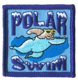 Advantage Emblem & Screen Prnt Polar Swim Bear Fun Patch