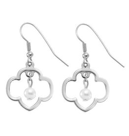 GIRL SCOUTS OF THE USA Trefoil Cut-Out Pearl Earrings