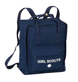 GIRL SCOUTS OF THE USA Navy Boxy Backpack
