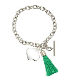 GIRL SCOUTS OF THE USA Tassel And Charm Toggle Bracelet