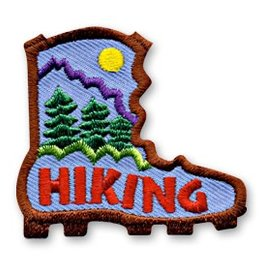 Hiking Boot Shape Fun Patch
