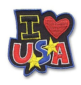 I Love USA Heart Fun Patch