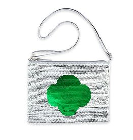 GIRL SCOUTS OF THE USA Reversible Sequined Trefoil Crossbody Bag