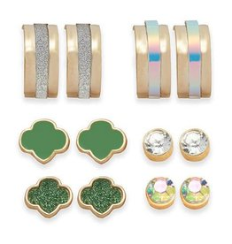 GIRL SCOUTS OF THE USA GS 6-Pair Hoops & Studs Earring Set