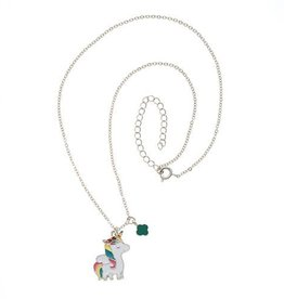 GIRL SCOUTS OF THE USA Unicorn And Trefoil Charm Necklace