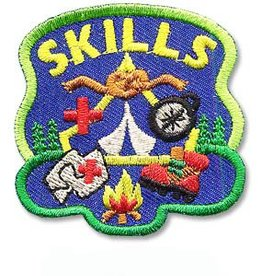 Skills Knot Fire Map Tent Camp Fun Patch