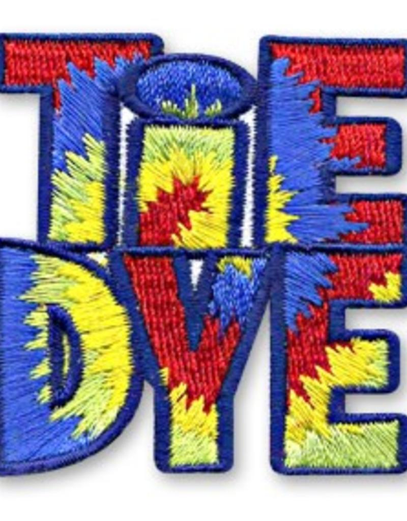 Tie Dye Letters Fun Patch