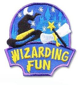 Wizarding Fun Hat Wand Scroll Fun Patch