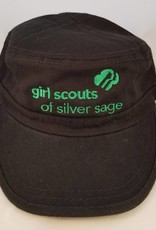 Outfit Your Logo Silver Sage Cadet Cap Black