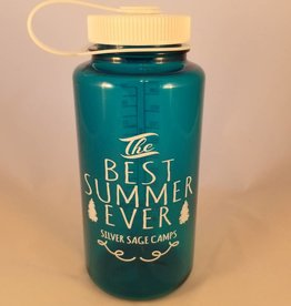 Outfit Your Logo Silver Sage Camps Nalgene Water Bottle Trout Teal