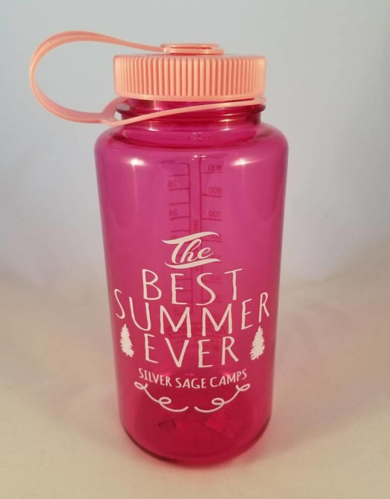 Outfit Your Logo Silver Sage Camps Nalgene Water Bottle Pink