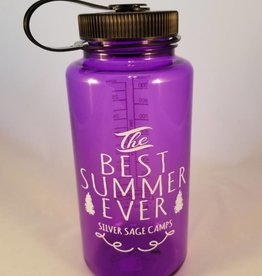 Outfit Your Logo Silver Sage Camps Nalgene Water Bottle Purple