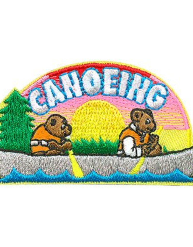 Advantage Emblem & Screen Prnt Canoeing Bears Fun Patch