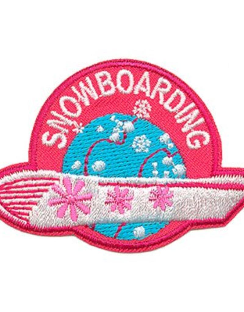 Advantage Emblem & Screen Prnt Snowboarding Fun Patch