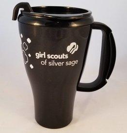The Roberts Group Silver Sage 16 oz. Black Seafarer Plastic Coffee Mug 12DOC