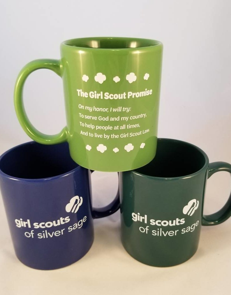 Silver Sage 14 oz. Light Green Wave Ceramic Mug