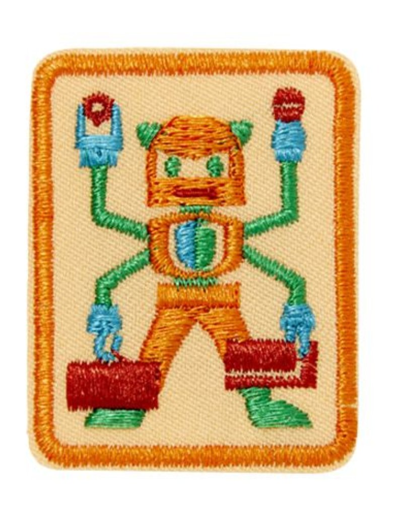 GIRL SCOUTS OF THE USA Senior Showcasing Robots Badge