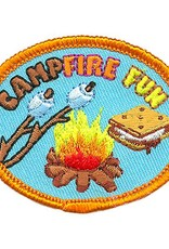Campfire Fun S'more Oval Fun Patch