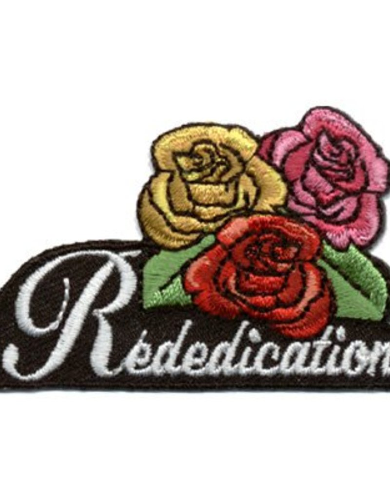 Advantage Emblem & Screen Prnt Rededication Roses Fun Patch