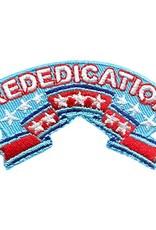 Advantage Emblem & Screen Prnt Rededication Banner Stars Fun Patch