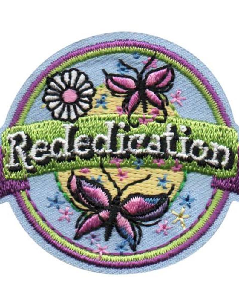 Rededication Butterflies Banner Fun Patch