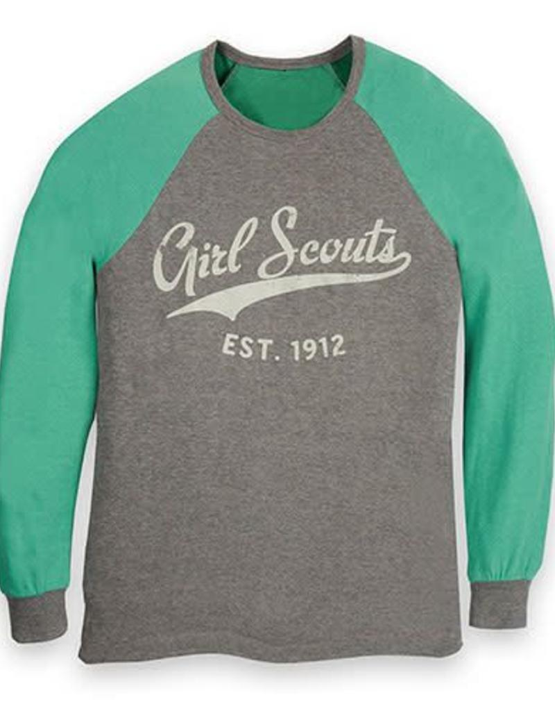 GIRL SCOUTS OF THE USA Gray & Green Baseball 1912 Shirt