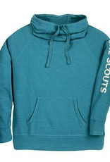 GIRL SCOUTS OF THE USA Cowl Neck Hooded Pullover Teal