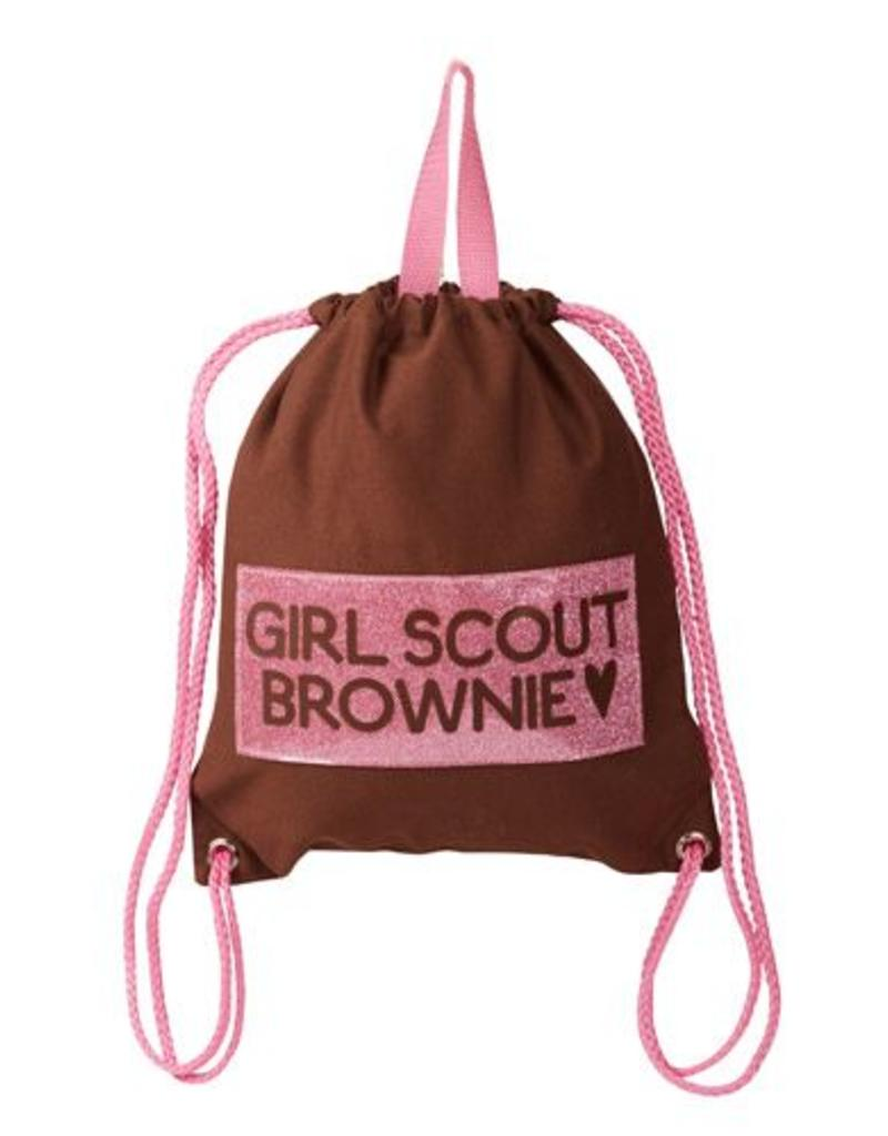 GIRL SCOUTS OF THE USA Brownie Mini Drawstring Bag Backpack
