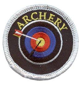 Advantage Emblem & Screen Prnt Archery Arrow in Bullseye Circle Fun Patch