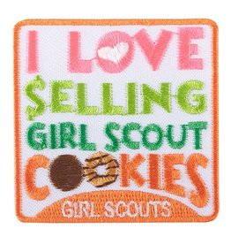GIRL SCOUTS OF THE USA I Love Selling Girl Scout Cookies Iron-On Fun Patch