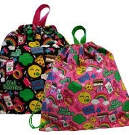 GIRL SCOUTS OF THE USA Emoji Drawstring Bag - Pink or Black
