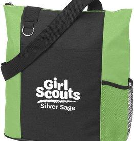 Silver Sage Fun Tote Bag Black & Lime