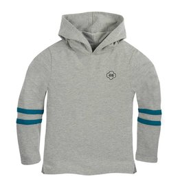 GIRL SCOUTS OF THE USA Jersey Knit Hoodie Heather Grey w/ Teal Stripe