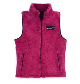 GIRL SCOUTS OF THE USA Burgundy Plush Sherpa Vest