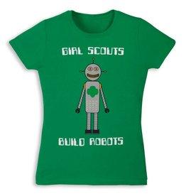 GIRL SCOUTS OF THE USA Green Build Robots Robotics T-Shirt