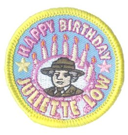 Advantage Emblem & Screen Prnt Happy Birthday Juliette Low Fun Patch