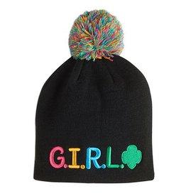 GIRL SCOUTS OF THE USA G.I.R.L. Pom-Pom Beanie Cap