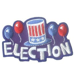 Election Hat w/ Balloons Fun Patch