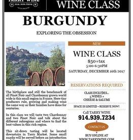 Burgundy Wine Class 5pm 12/16/17