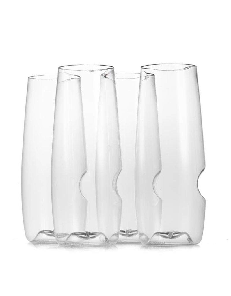 GoVino Flute 4 Pack Champagne glasses