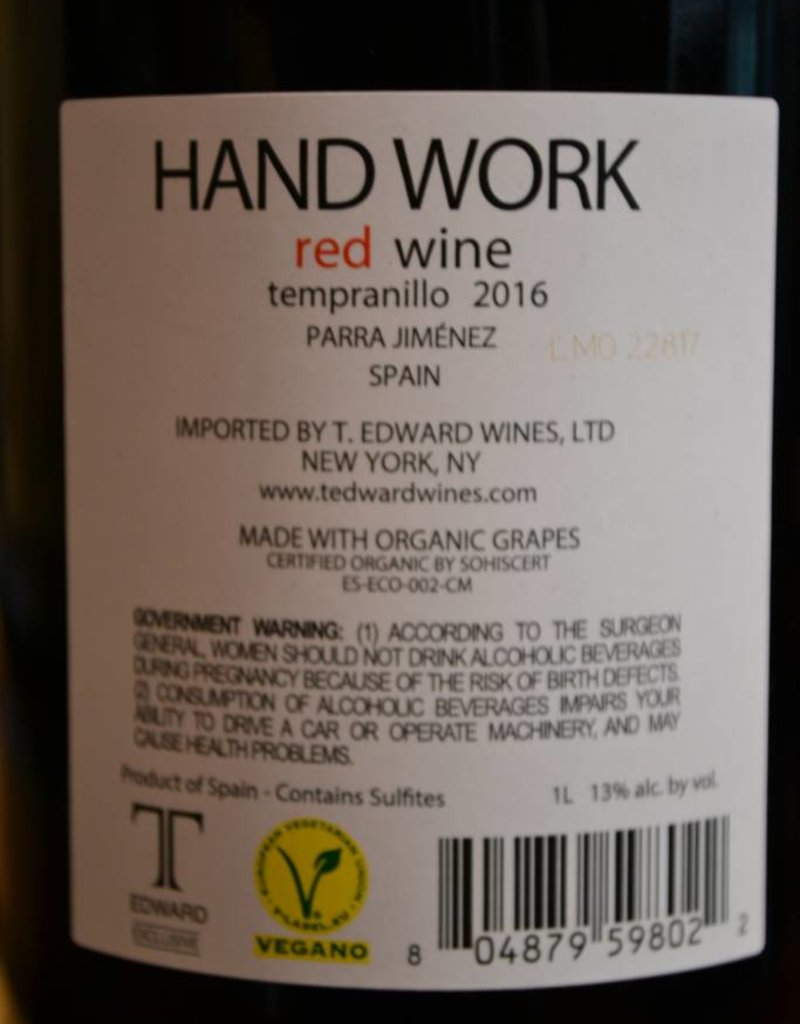 Hand Work Tempranillo 2017
