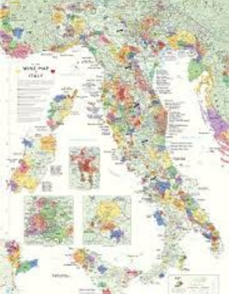 Italy Wine Map Rolled