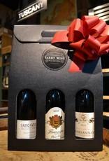 Burgundy 3 Bottle Gift Box