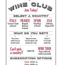 6 Month Subscription to Tarry Wines U.S. Wine Club