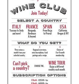 6 Month Subscription to Tarry Wines Italian Regional Wine Club