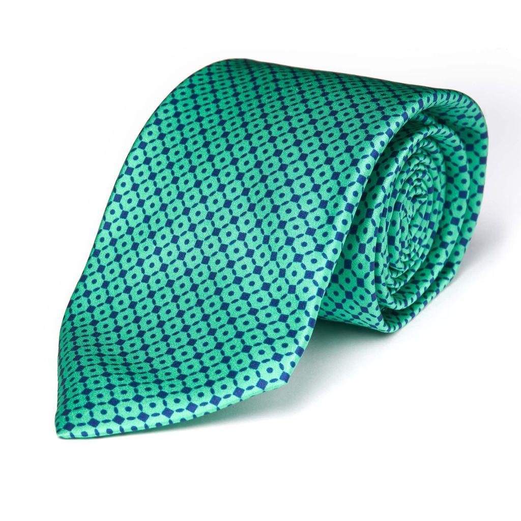 Green w/Navy Micro Grid Tie